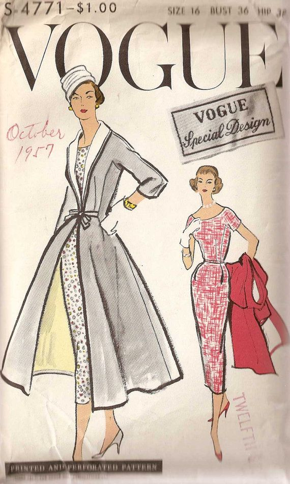 Vintage Vogue V8875 Sewing Patterns Pinterest Woman Clothing Patterns And Search