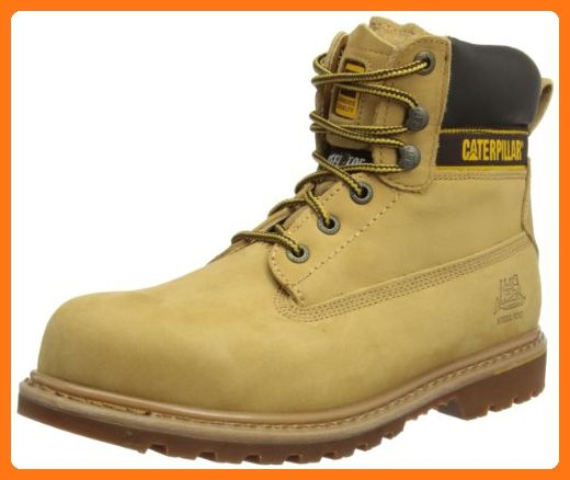 Caterpillar mens Caterpillar Mens Holton Steel Toe & Midsole Safety Boot S3 Honey Leather UK 9 (EU 43, US 10) (*Partner Link)