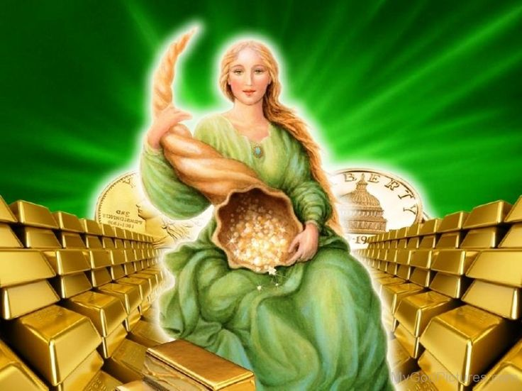 Abundantia è una bellissima dea del successo, prosperità e fortuna. Lei è anche considerata una protettrice del risparmio, dell'investimento e della ricchezza