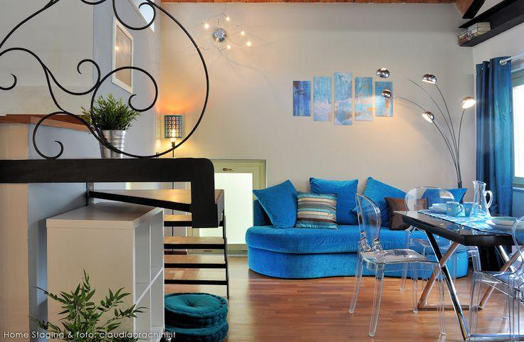 MANCORRENTE LIBERTY DIVANO TURCHESE turquoise sofa blue