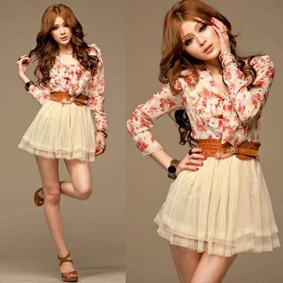 Cute!: Fashion, Style, Chiffon Floral, Mini Dresses, Belt, Bowtie Tunic, Minis, Tunic Tulle