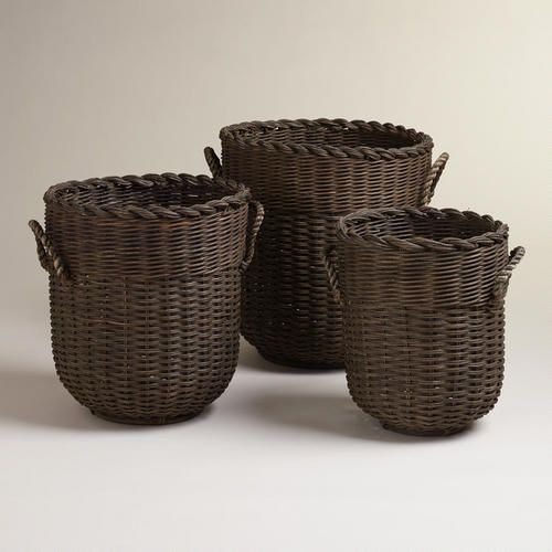 One of my favorite discoveries at WorldMarket.com: Kamila Mixed Rope Baskets