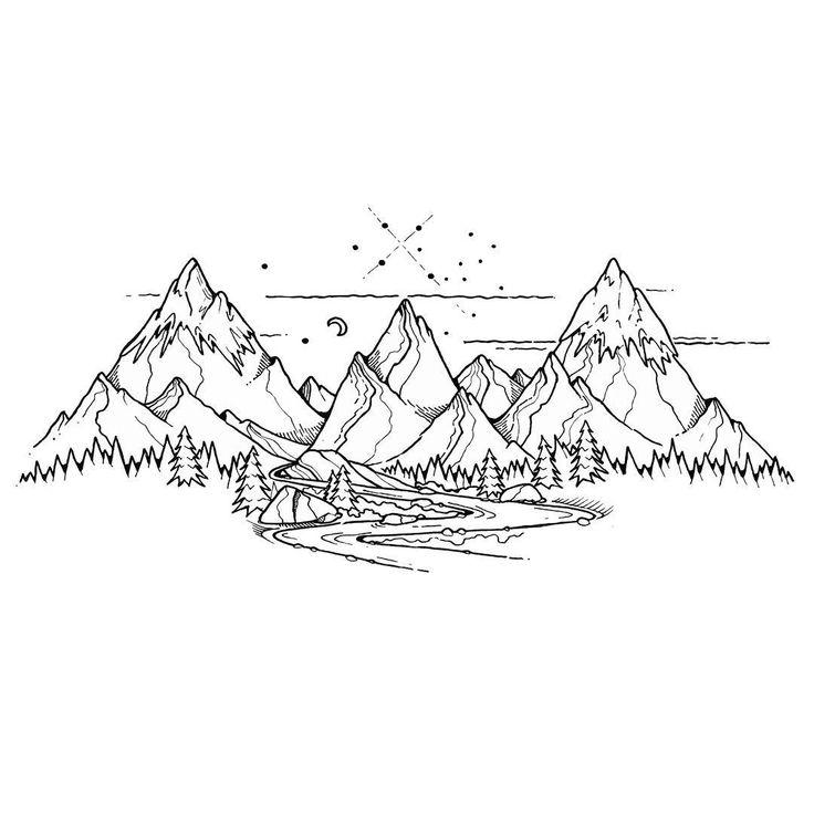 Тату картинки горы