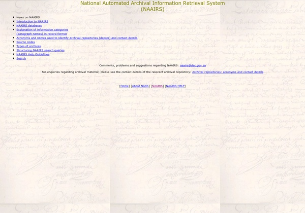 http://www.national.archives.gov.za/naairs_content.htm via @url2pin