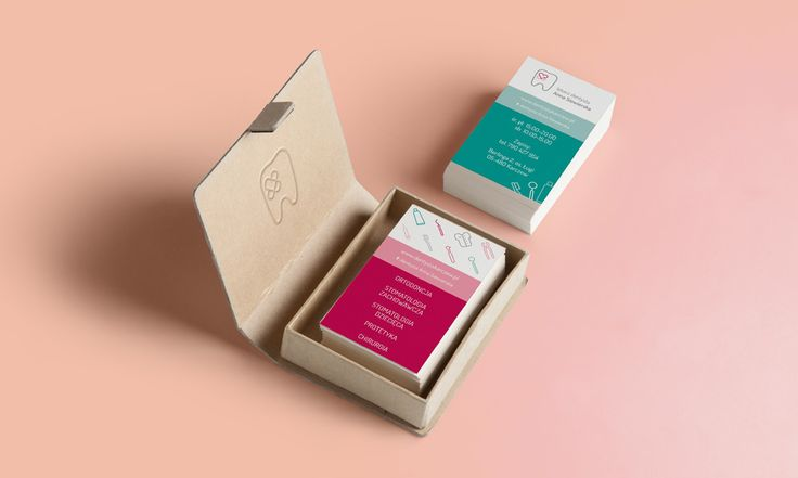 Dentist Anna Siewierska - business cards - by Lotne Studio
