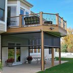 Patio under deck with separate firepit patio. - Traditional - Patio - other metro - by Vidic Landscape Design & Construction, LLC