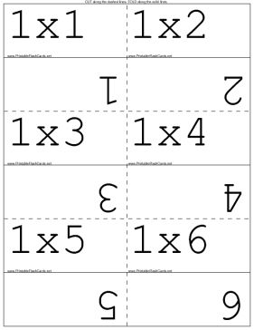 Multiplication Facts template  sani still working on 4's,6's,7's