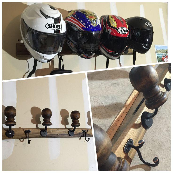 Homemade Motorcycle Helmet Rack (Organizers)