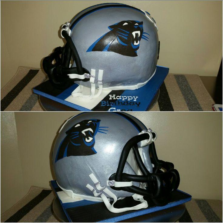 Carolina Panther's helmet cake