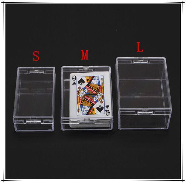 Hoge kwaliteit PS transparante doos verzegeld pakket display plastic rechthoekige kaart visitekaartje opbergdoos 5 stks/partij