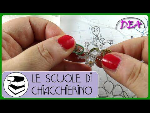 12°Tutorial di Chiacchierino ad ago: inserimento delle perle nei cerchi. - YouTube
