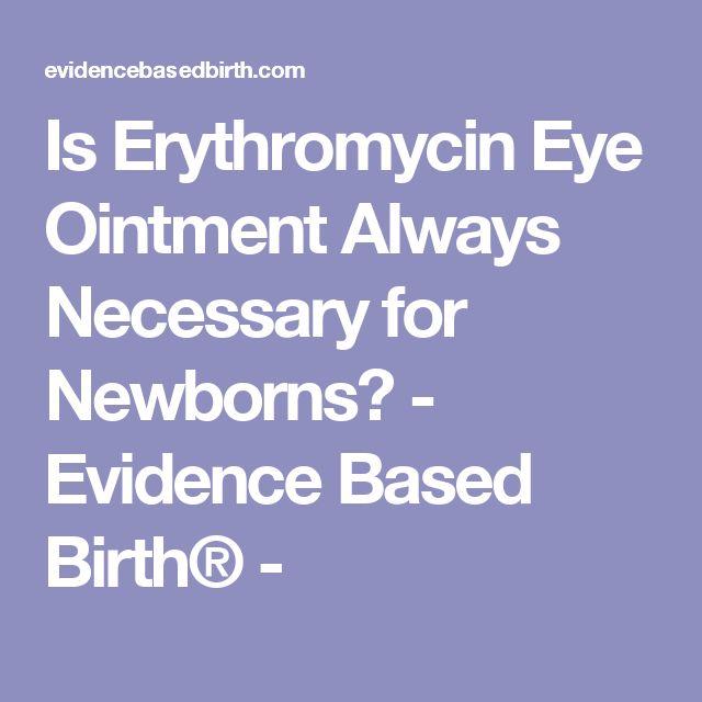 Erythromycin Ointment For Newborns