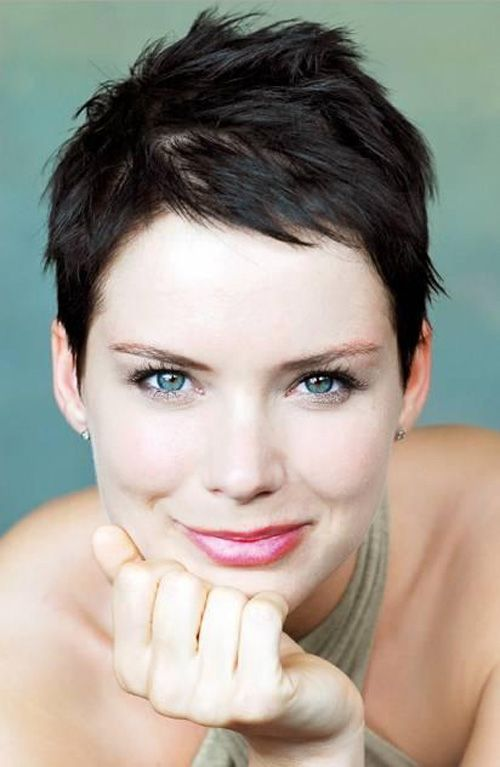 Short Female Hairstyles tousled hairstyle for a square face Very Short Female Hairstyles