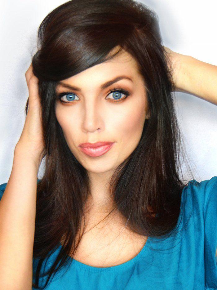 Angelina makeup look using all drugstore makeup
