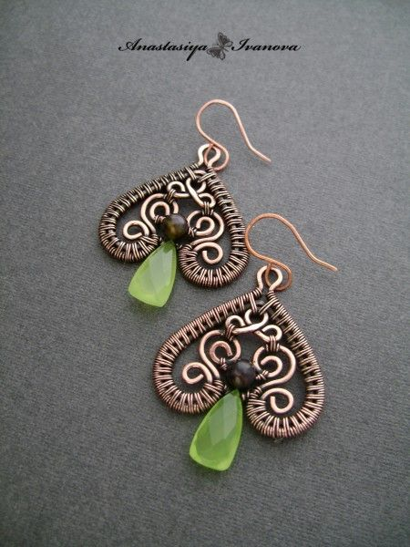 Casellated weave earrings