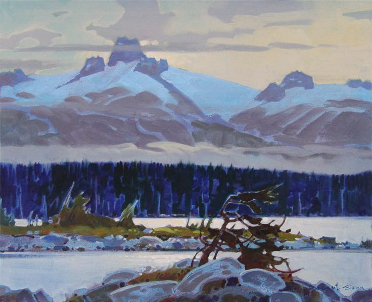 'Silver Lake Morning', 2010, acrylic by Robert Genn at Mayberry Fine Art