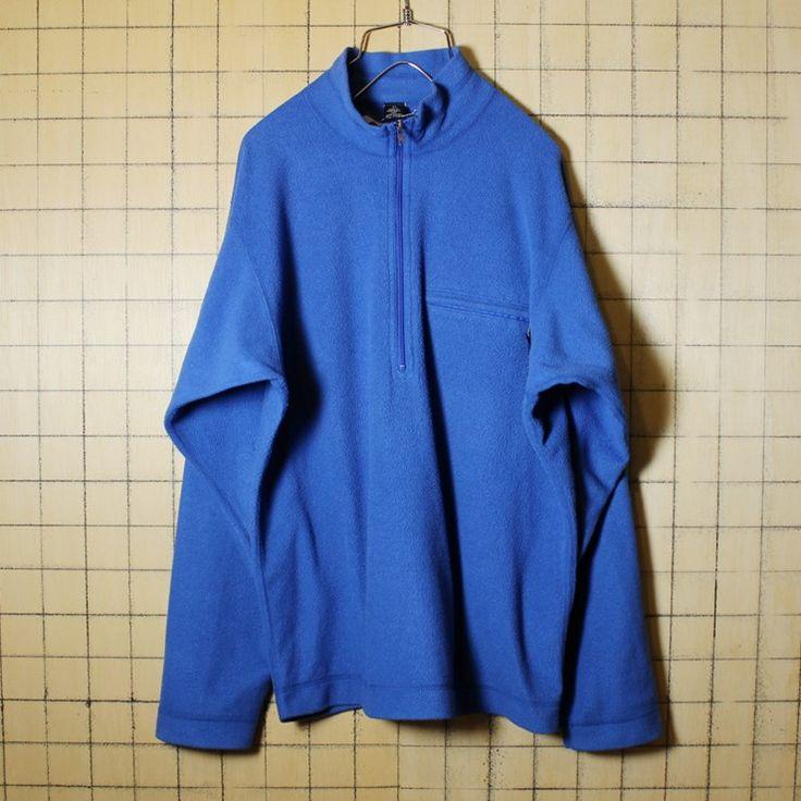 USA製 古着 patagonia パタゴニア ハーフジップ フリースジャケット メンズM ブルー