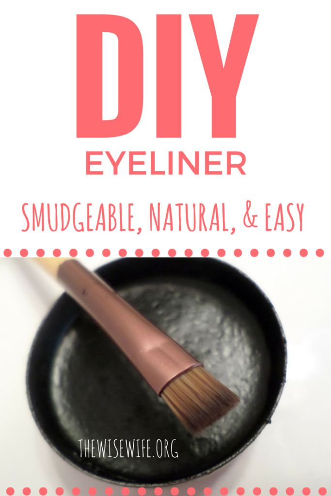 Natural Smudgeable Eyeliner - create your own DIY eyeliner using just three ingredients. Safe, natural and easy eyeliner