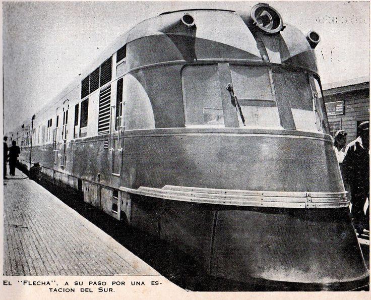 Flecha del Sur. Ferrocarriles del Estado (Chile). Guía del Veraneante 1946.