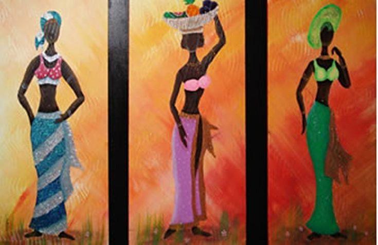 plantillas de cuadro de africanas | Aprender manualidades es facilisimo.com