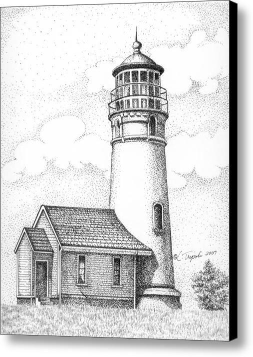 Cape Blanco Lighthouse Leinwanddruck / Leinwandbild von Lawrence Tripoli
