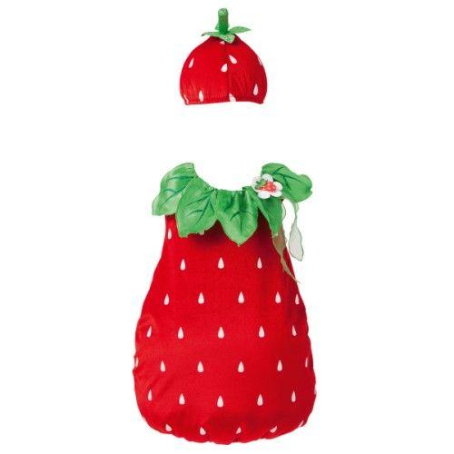 Pour déguiser les plus petits en petite fraise à croquer.