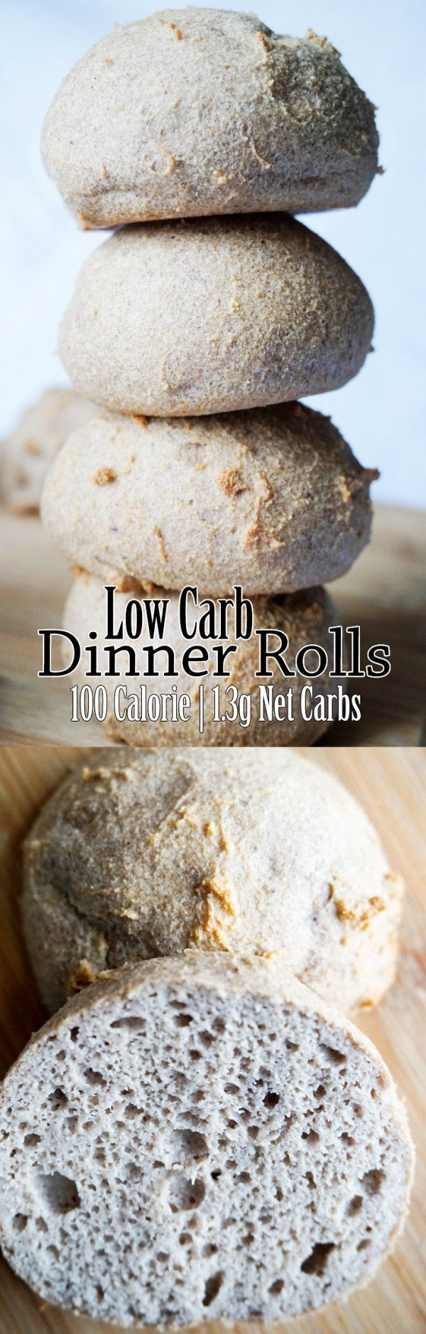 Low Carb Rolls - 100 Calories | 1.3g Net Carbs each!