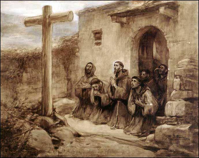 Flowers of St. Francis na pintura de José Benlliure