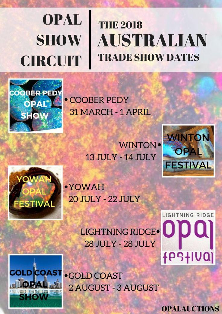 Australian opal show circuit 2018  opal shows, opal circuit, australia, opals,
