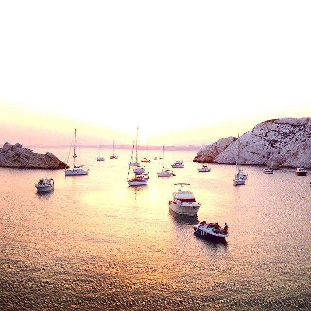 Sunset in Marseille, France. Photo courtesy of alliemariedesigns on Instagram.