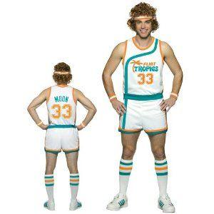 Flint Tropics Semi Pro Jackie Moon Basketball Uniform Costume (Jersey, Shorts, Wig, Headband and Socks) $79.95 #tvstoreonlinewishlist