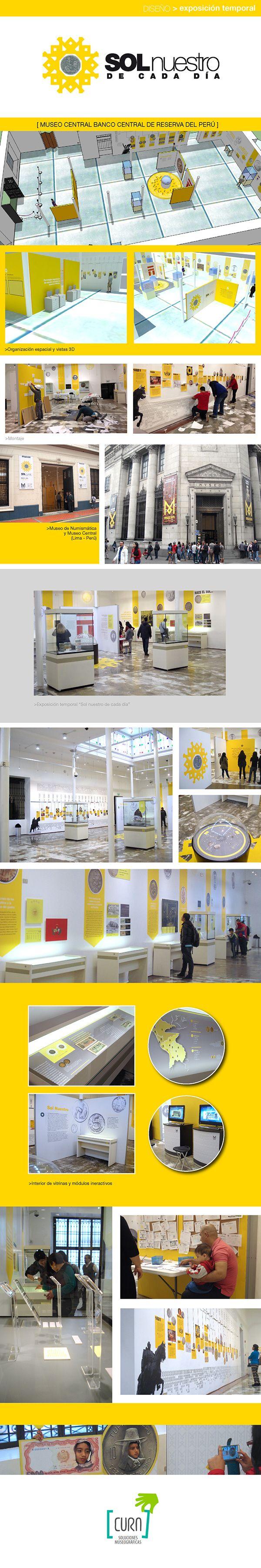 Diseño museográfico exposición SOL NUESTRO DE CADA DÍA, Mucen. Lima - Perú. Cura Soluciones Museográficas