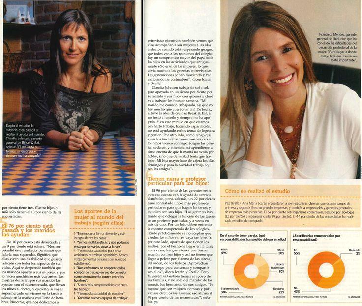 Revista YA, El Mercurio. Pág 37,38