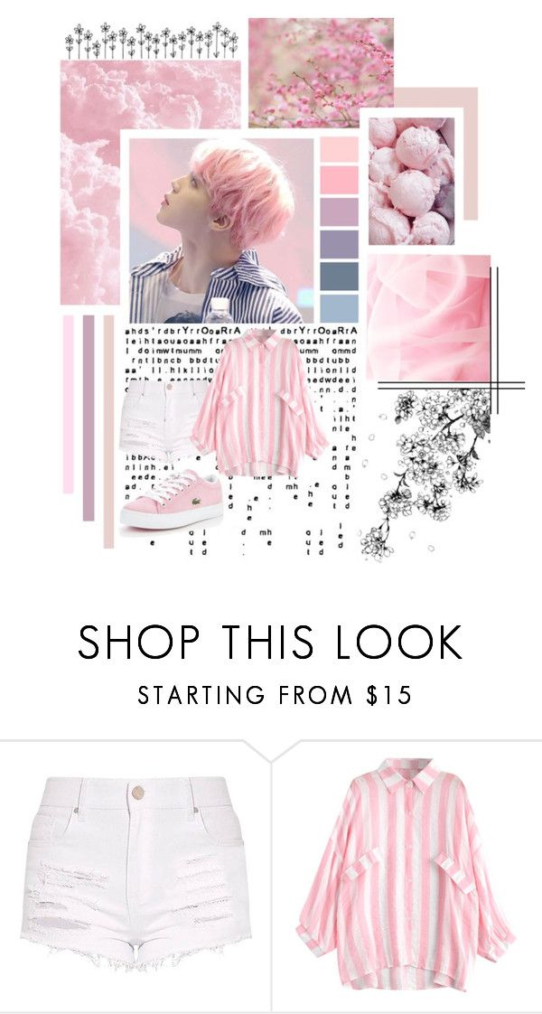 """""""Jimin_Pink"""" by jina-7 on Polyvore featuring GE, Lacoste, Pink, bts, BangtanBoys, jimin and parkjimin"""