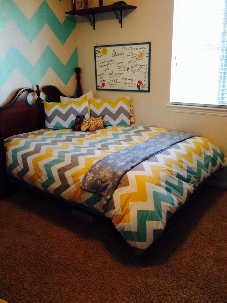 Chevron Teen Bedroom Landy Room Ideas Pinterest It Is The O