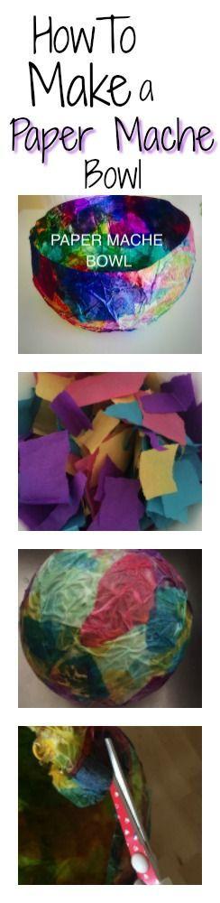 DIY Craft: How to make a paper mache bowl. <a class=