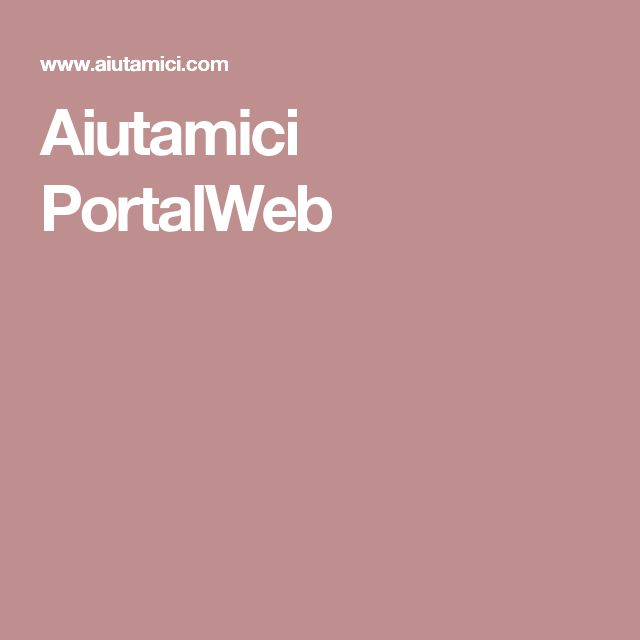 Aiutamici PortalWeb