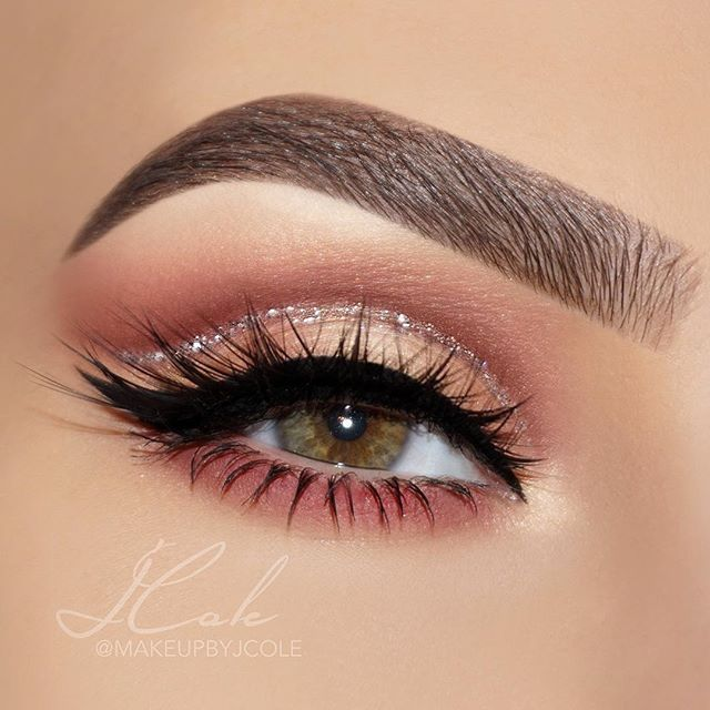 steps for hair styles best 25 medium cut ideas on longer layered 7508 | 54abe7cde7508e46a942b24818c88563 rose gold glitter cut crease rose gold nails acrylic