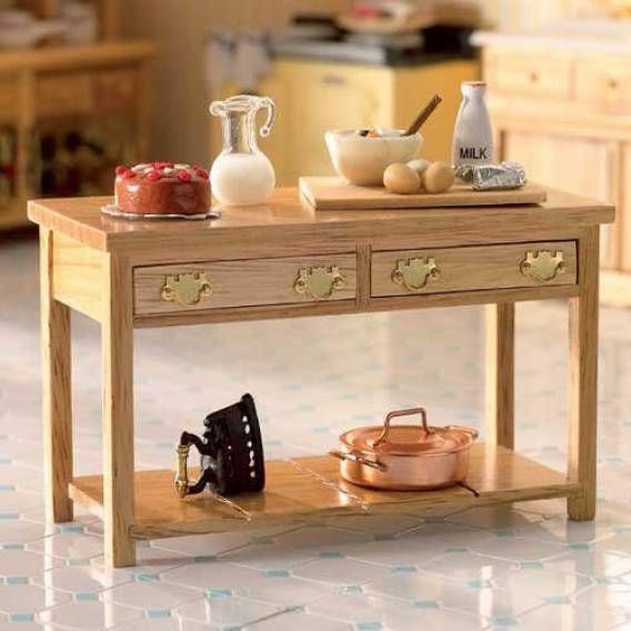 Kitchen Side Table: Dolls House Emporium Victorian Kitchen Side Table