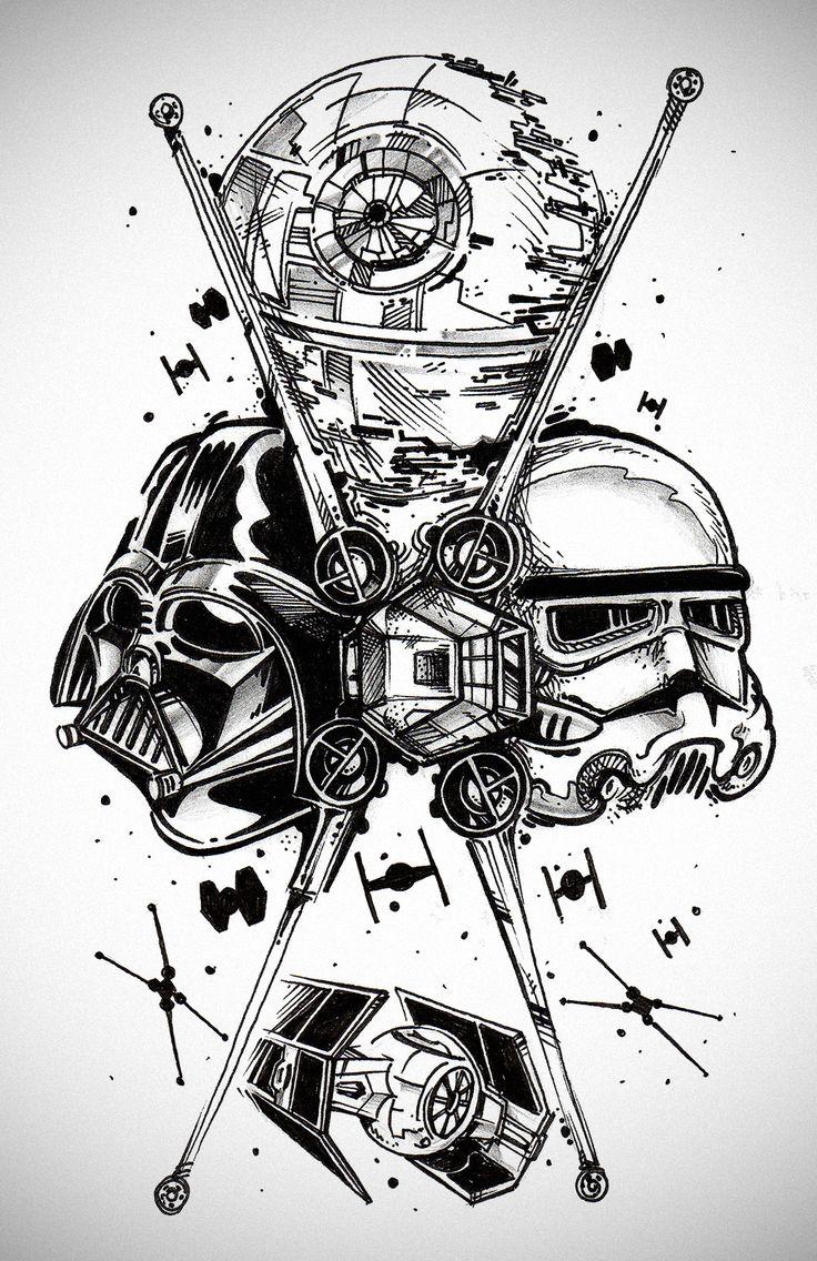 star wars darth vader stormtrooper  deathstar  taifighter