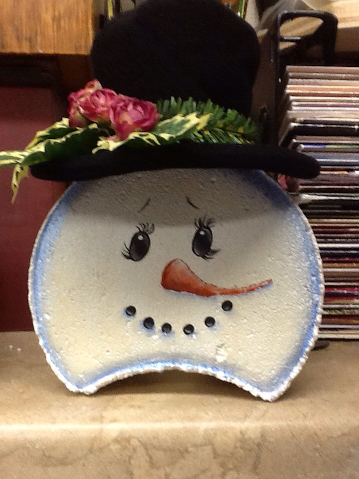 Painted snowman paver