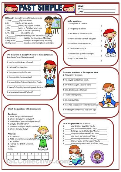 PAST SIMPLE Worksheet Free ESL Printable Worksheets Made ...