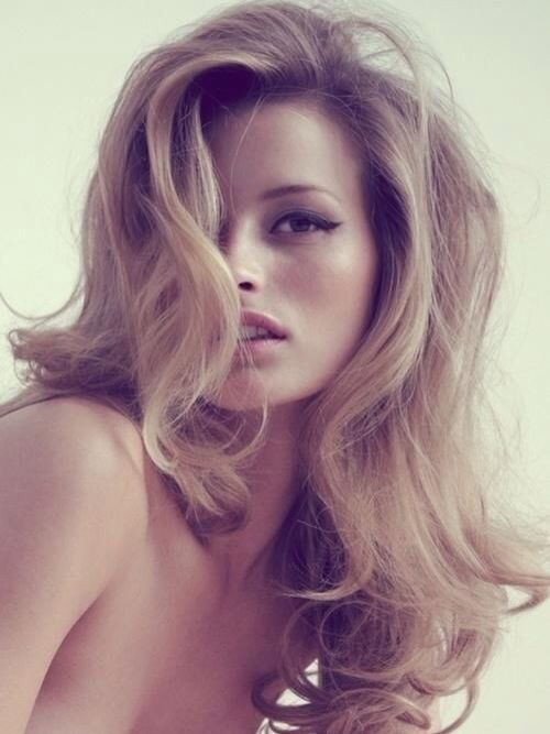 How: forward curls (for the softer look), run fingers through curls to loosen, tease like crazy