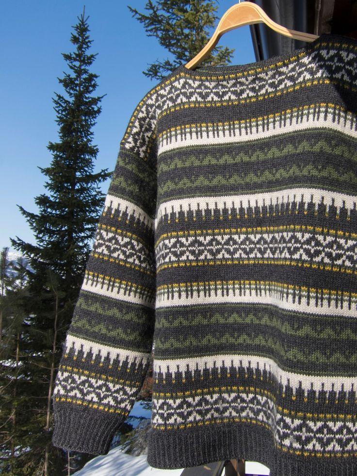 Wenches hobbyblogg...: Bestemor Ellas fine strikkegenser