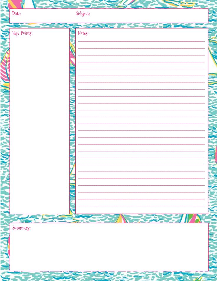 Chapter Summary Template. Cornell Notes - Google Search Pinterest