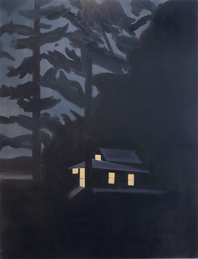 Night Cabin Art by Alex Katz