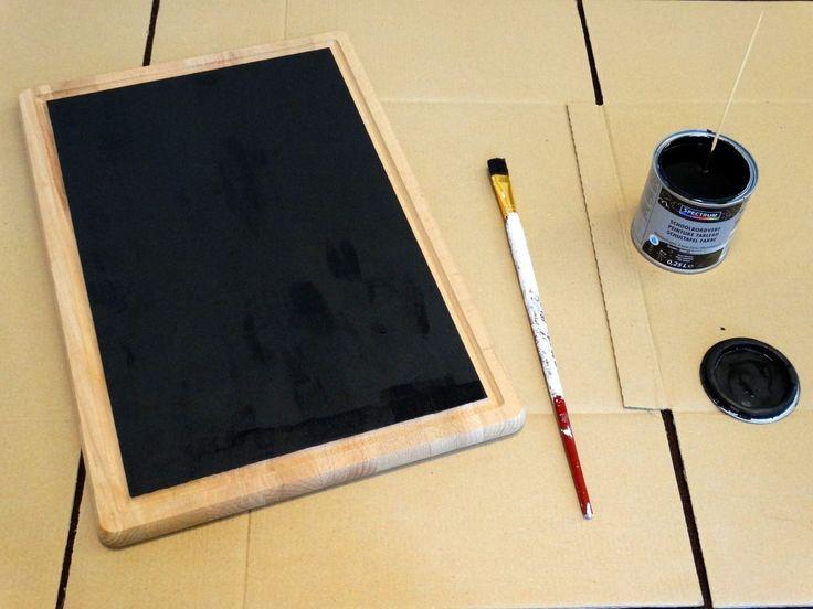 Krijtbord maken eenvoudige DIY