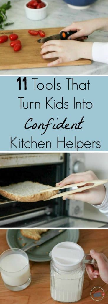 Want your kids to help out more in the kitchen? These tools and gadgets can help.