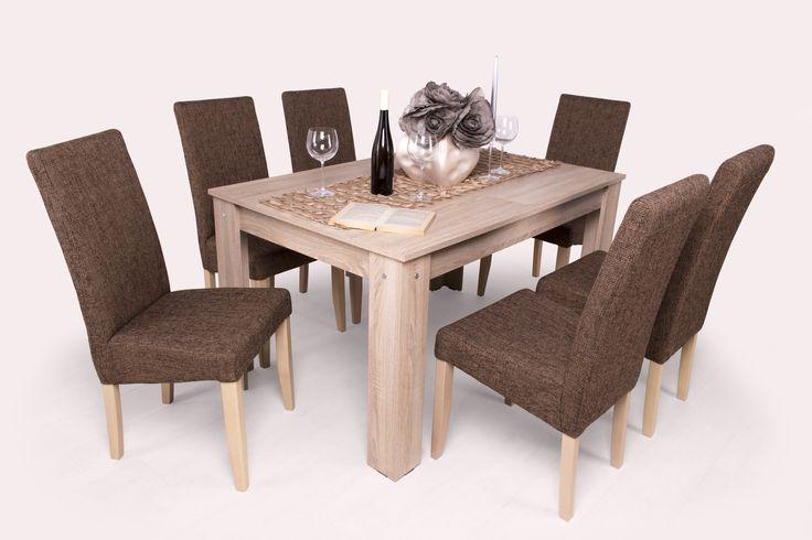 Berta étkező Félix asztallal (6 személyes) l http://megfizethetobutor.hu/etkezo/etkezogarnitura/6-szemelyes-etkezogarnitura/berta-etkezo-felix-asztallal-6-szemelyes