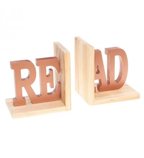 S_2 WOODEN BOOKEND READ 31(16)X11X16
